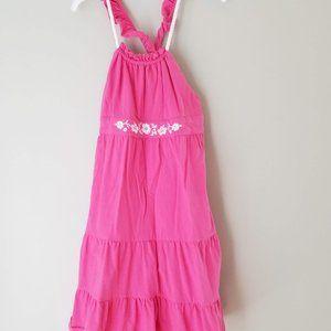 Chaps size 6x flutter sleeve pink dress